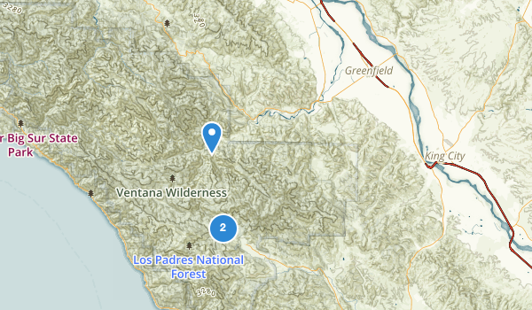 trail locations for Greenfield, California