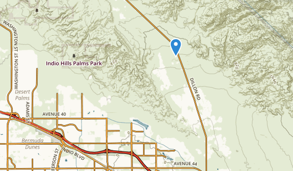 trail locations for Indio, California