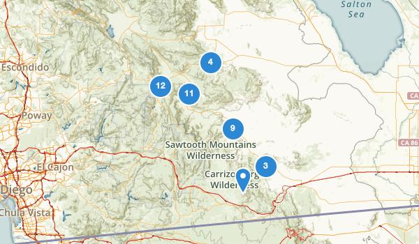 trail locations for Julian, California