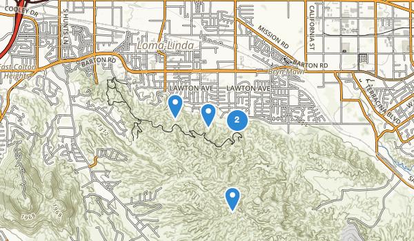 trail locations for Loma Linda, California