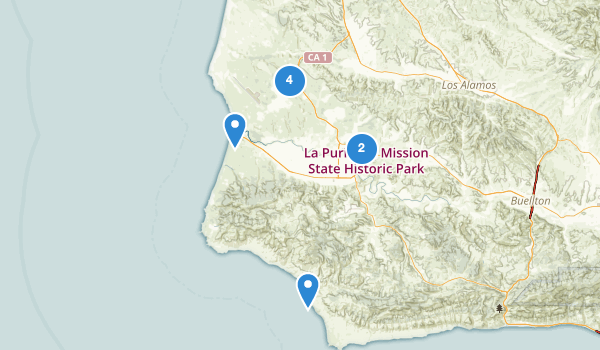 trail locations for Lompoc, California