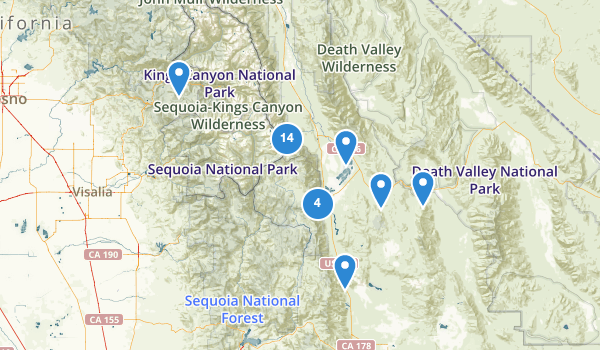 trail locations for Lone Pine, California