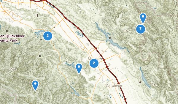 trail locations for Morgan Hill, California