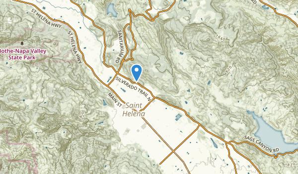 trail locations for Saint Helena, California