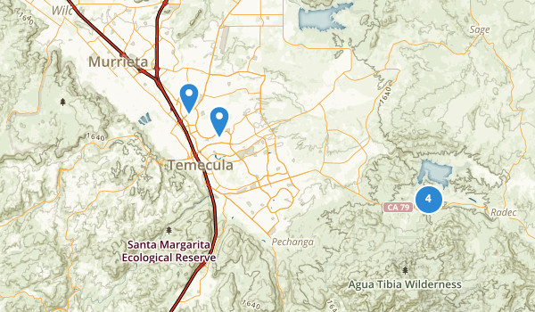 trail locations for Temecula, California