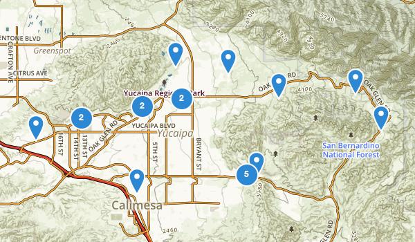 trail locations for Yucaipa, California