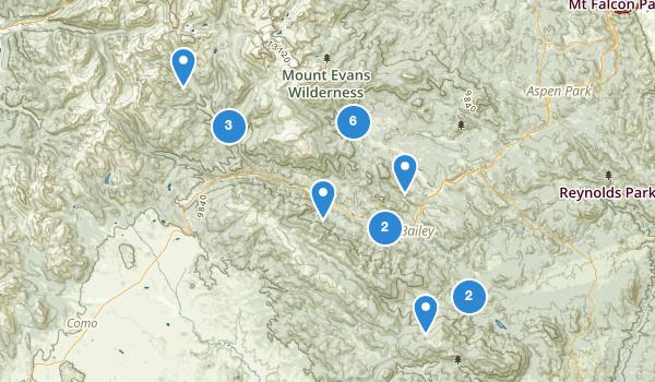 trail locations for Bailey, Colorado