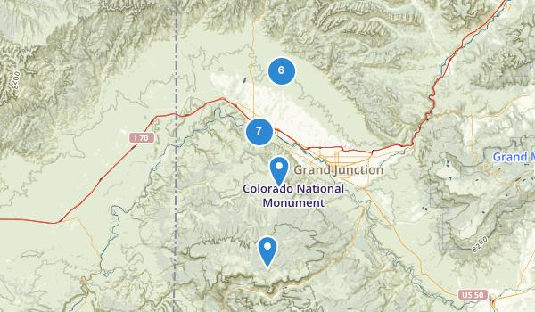 trail locations for Fruita, Colorado