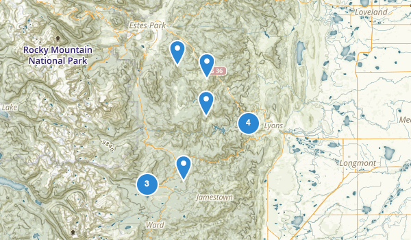 trail locations for Lyons, Colorado
