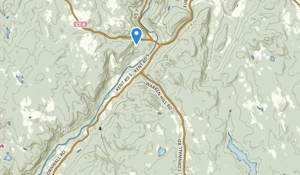 trail locations for Cornwall Bridge, Connecticut