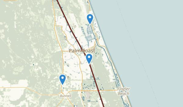 trail locations for Palm Coast, Florida