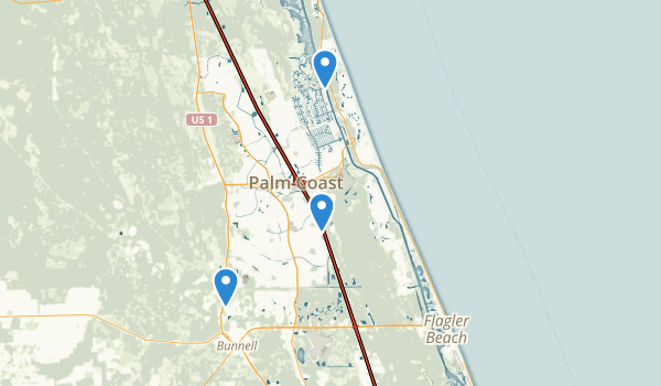 trail locations for Palm Coast, Florida