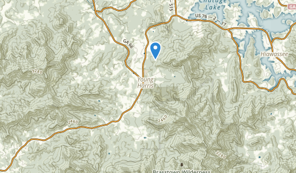 trail locations for Young Harris, Georgia