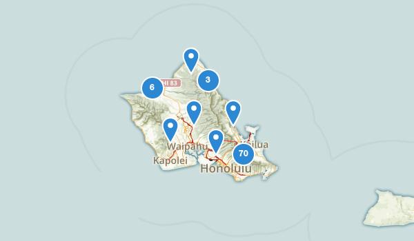 trail locations for Honolulu, Hawaii