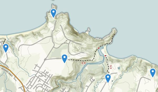 trail locations for Kilauea, Hawaii