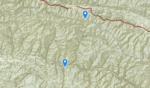 trail locations for Avery, Idaho