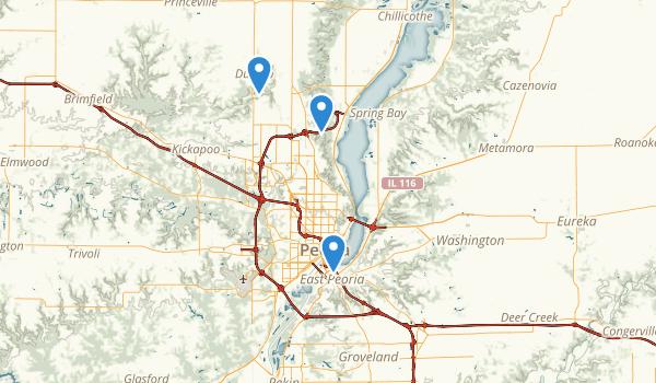 trail locations for Peoria, Illinois