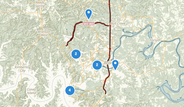 trail locations for Branson, Missouri