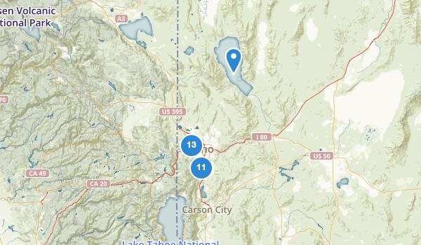 trail locations for Reno, Nevada