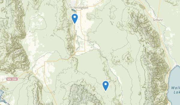 trail locations for Yerington, Nevada