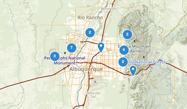 trail locations for Albuquerque, New Mexico