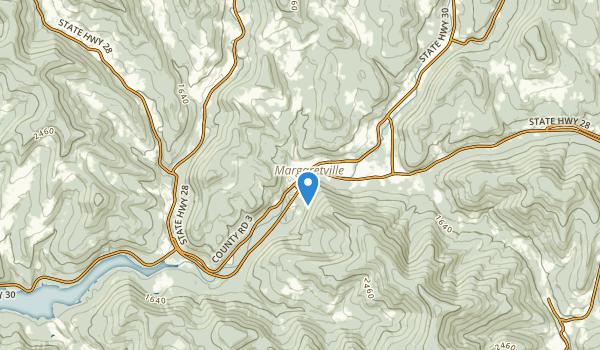 trail locations for Margaretville, New York