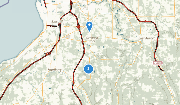 trail locations for Orchard Park, New York