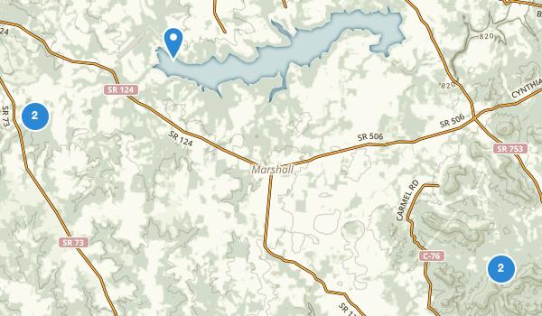 trail locations for Hillsboro, Ohio