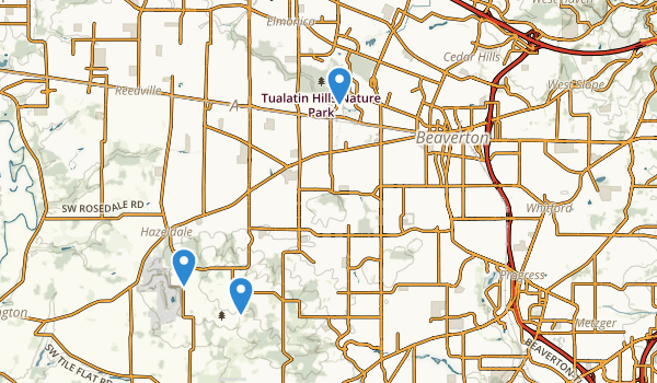 trail locations for Beaverton, Oregon