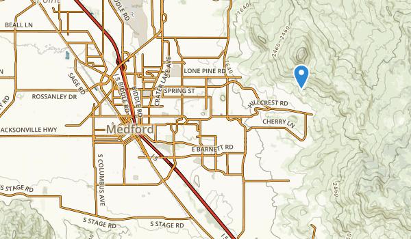 trail locations for Medford, Oregon