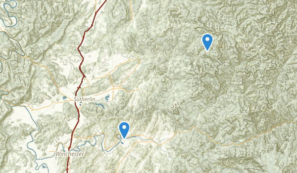 trail locations for Sutherlin, Oregon