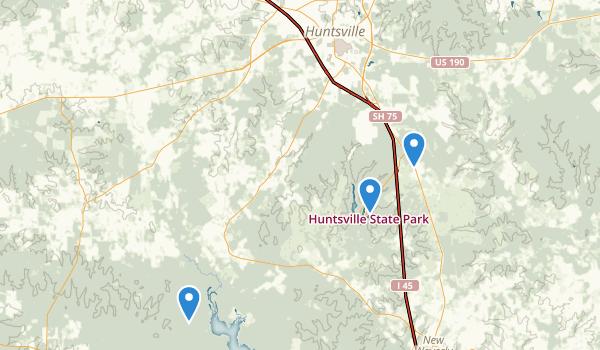 trail locations for Huntsville, Texas