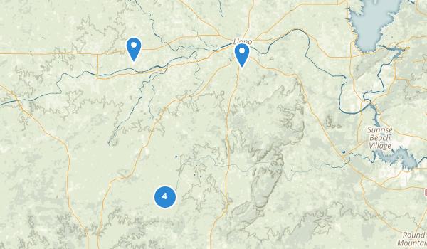 trail locations for Llano, Texas