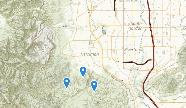 trail locations for Herriman, Utah