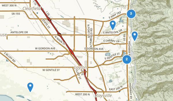 trail locations for Layton, Utah