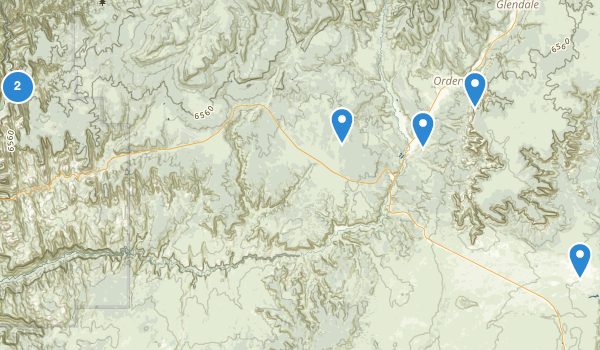 trail locations for Orderville, Utah