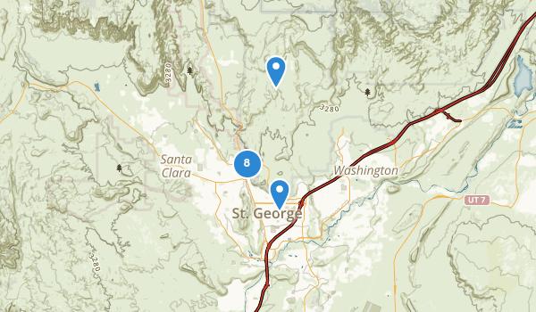 trail locations for Saint George, Utah