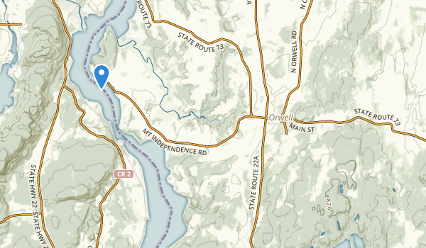 trail locations for Orwell, Vermont