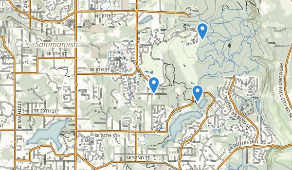 trail locations for Sammamish, Washington