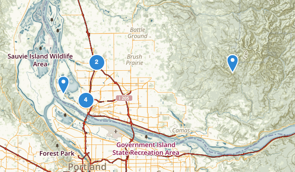 trail locations for Vancouver, Washington