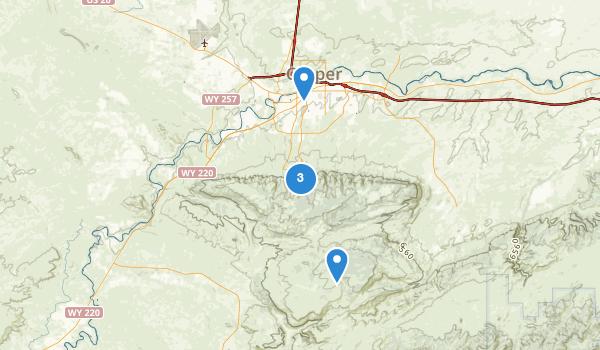 trail locations for Casper, Wyoming