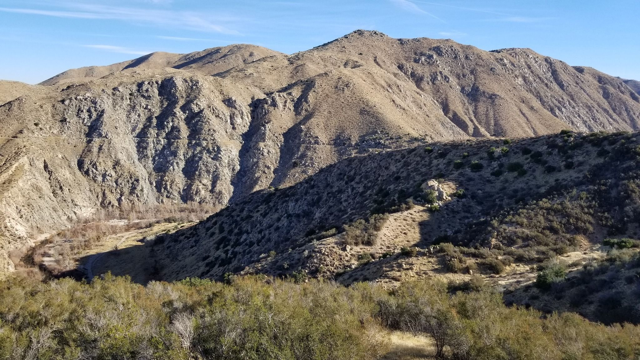 mojave forks river dam overlook trail