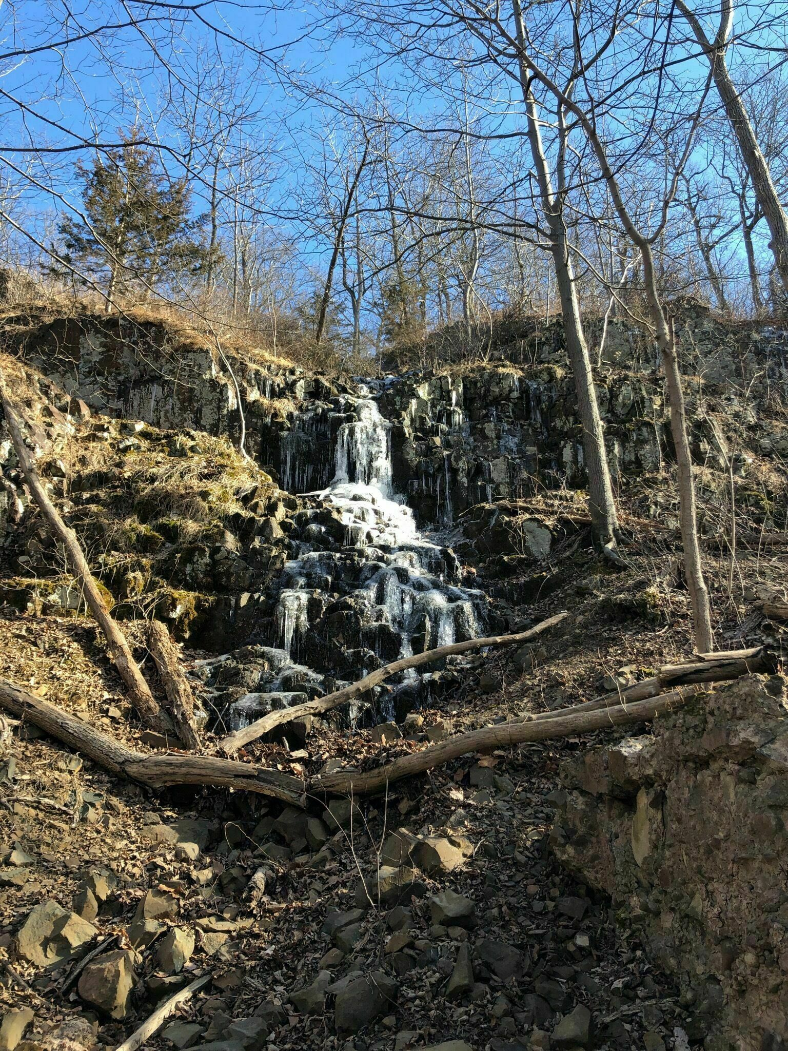 Watchung Reservation waterfall in Union County